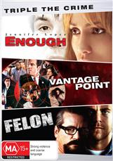 Crime Drama Triple (enough, Vantage Point, Felon)
