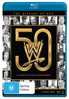 HISTORY OF WWE: 50 YEARS OF... (BLURAY)